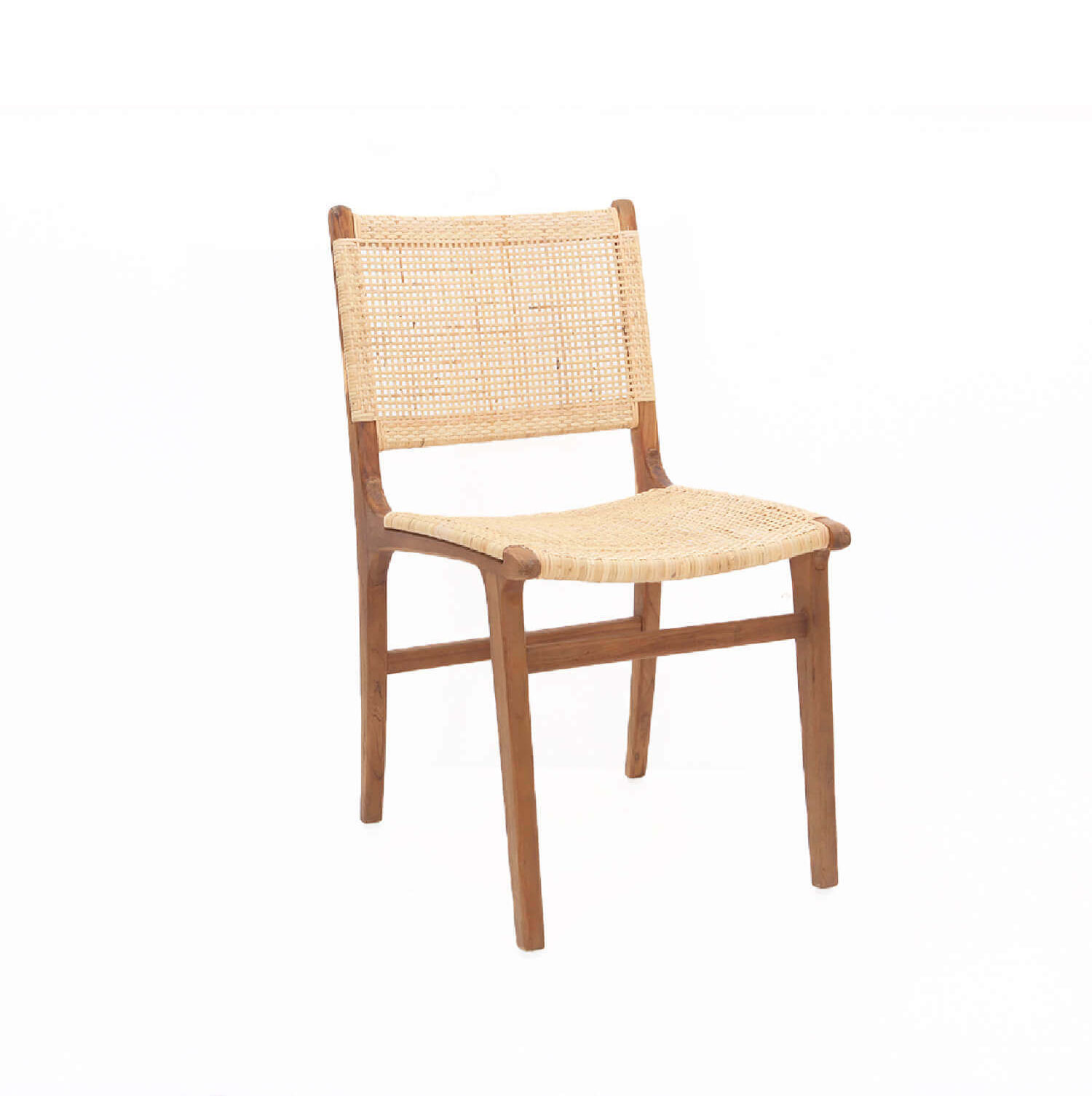 Teak Rattan Dining Chair