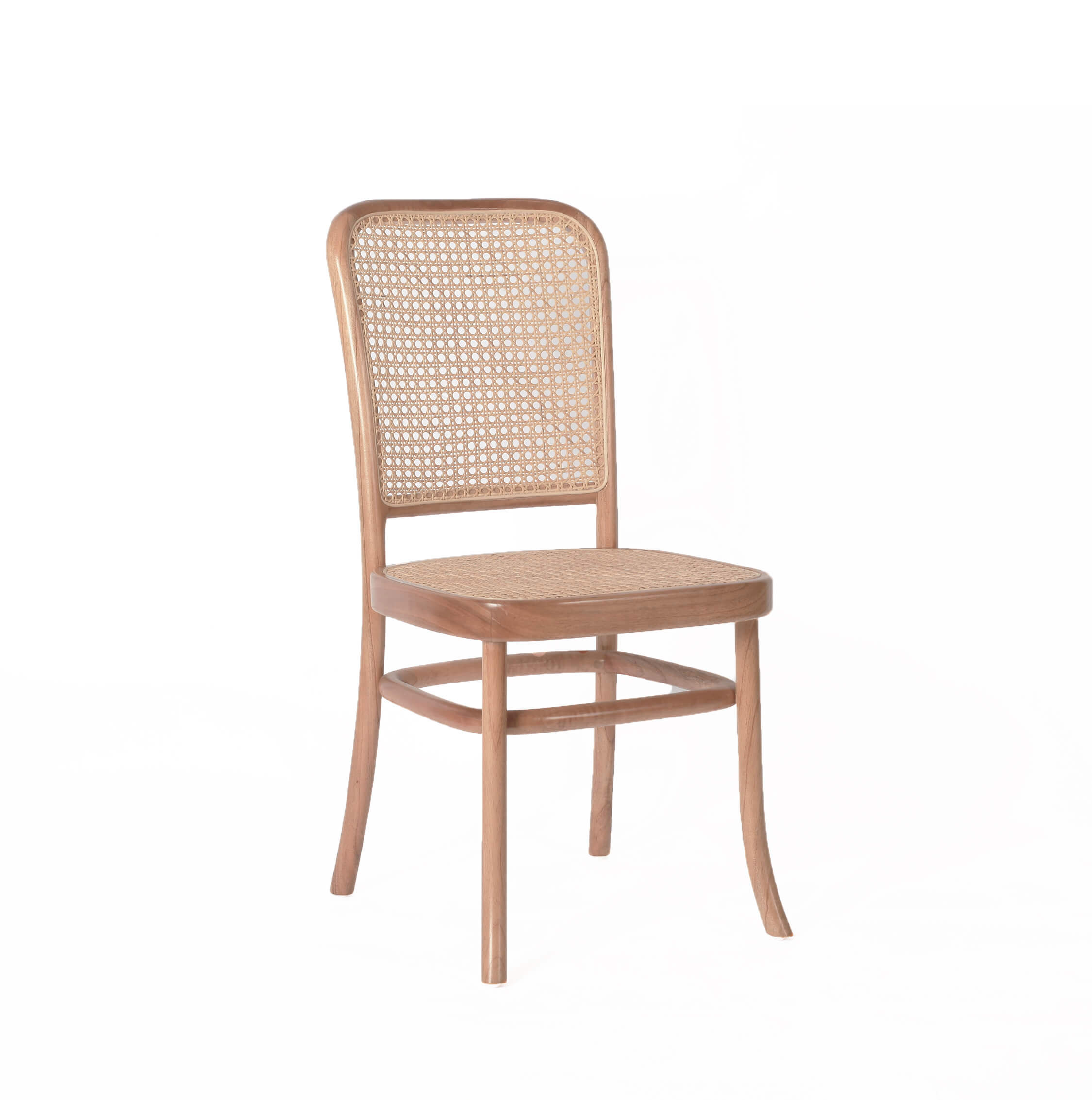 danish teak rattan dining chair