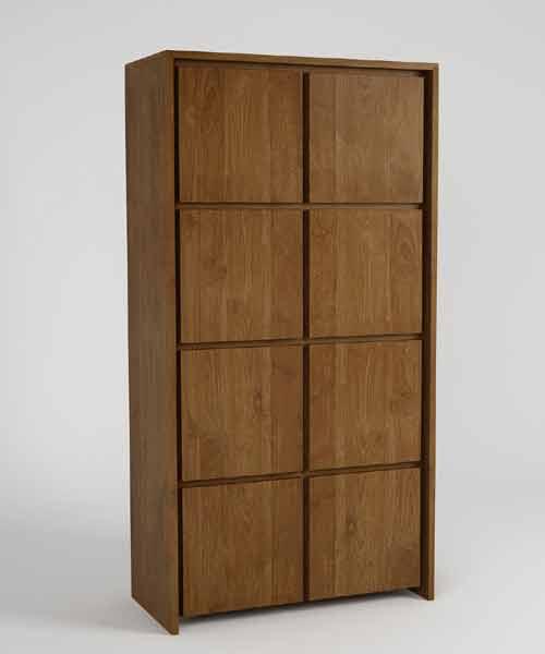 Modern Tall teak cabinet