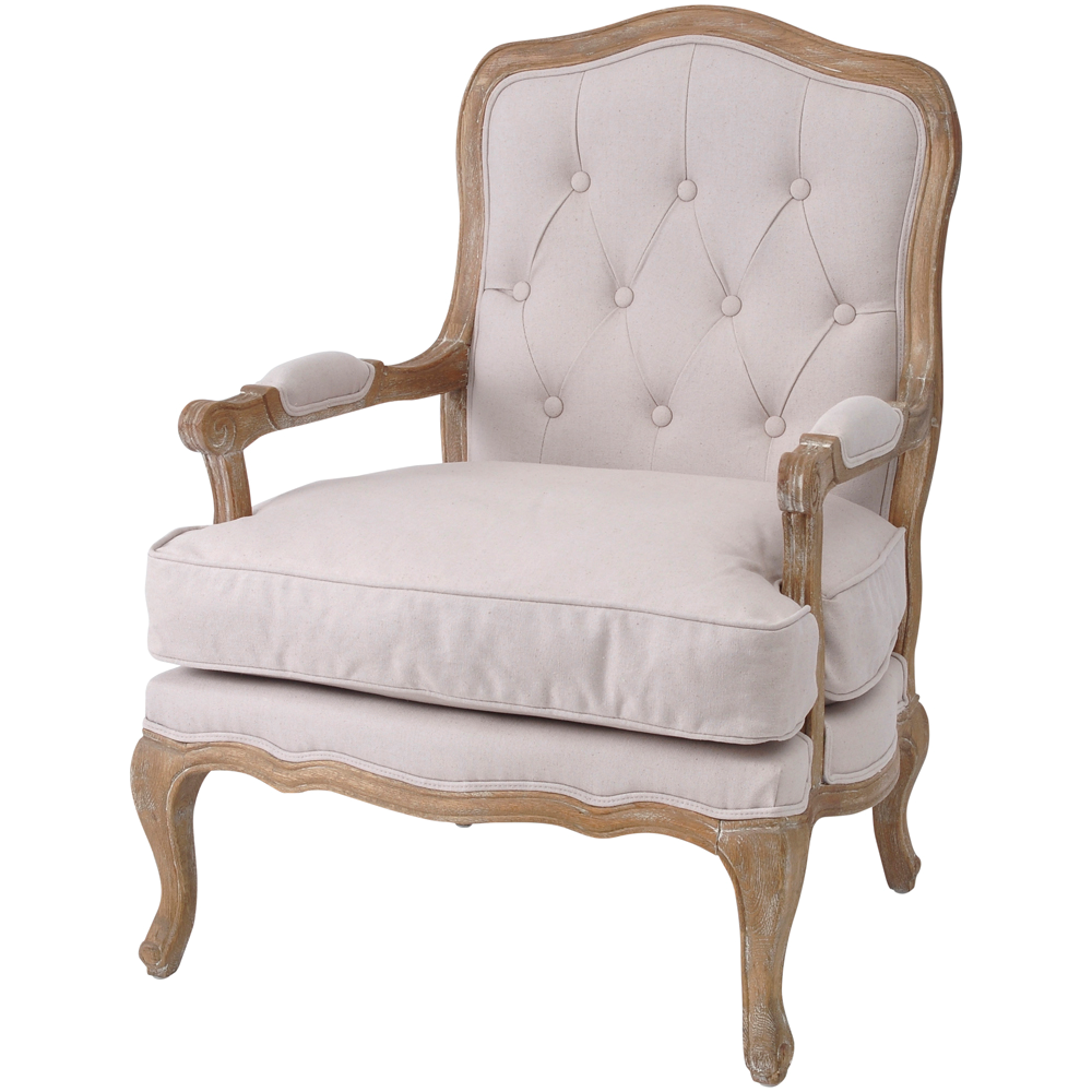 Buttoned Back French Armchair
