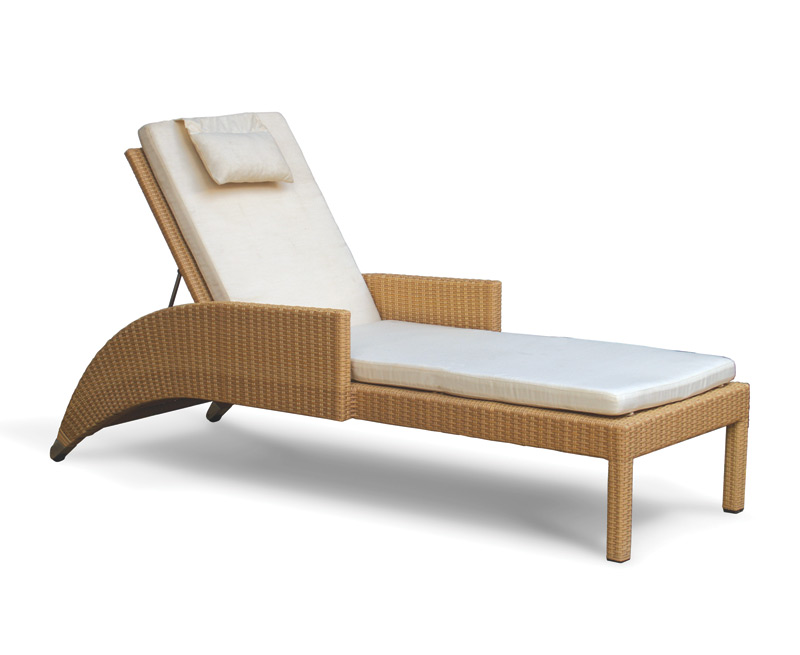 all weather wicker lounger