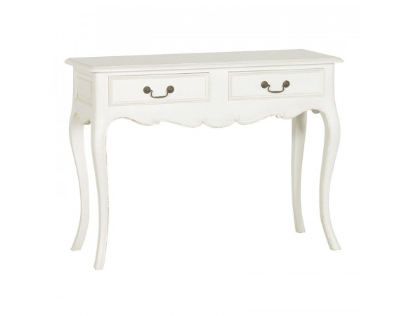 Antique White French Console